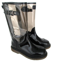Load image into Gallery viewer, Boots in Black Calf Leather and Black PVC