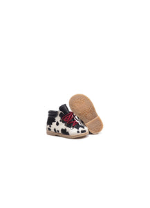 Toddler Boots in Animalier Effect Pony Hair Leather