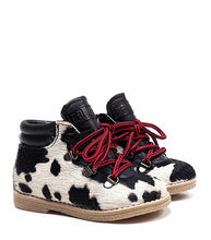 Load image into Gallery viewer, Toddler Boots in Animalier Effect Pony Hair Leather