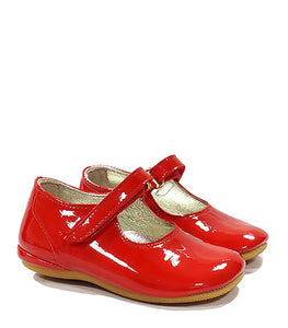 Toddler Ballerina in Red Patent Leather