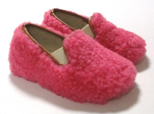Fluo pink toddler fluffy slipon