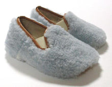 Load image into Gallery viewer, Light Blue toddler fluffy slipon