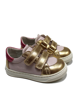 Pink & gold sneakers