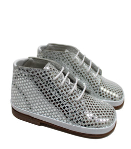 Stars toddler in silver leather