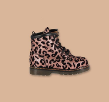 Load image into Gallery viewer, Toddler Boots in Pink Animalier Glitter