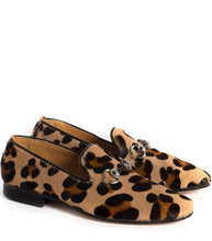 Load image into Gallery viewer, Slipper in Animalier Effect Pony Hair Leather
