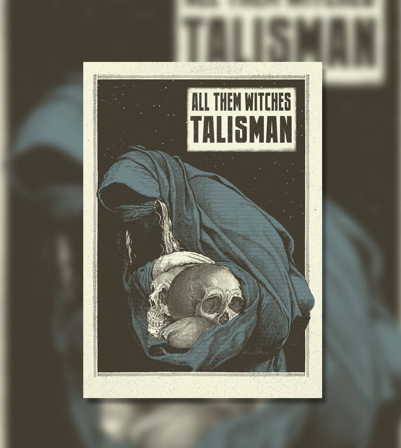 "Póster ""Talisman"" All them witches Alternative song poster"