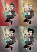 Ilustración de Billie Joe Armstrong (Green Day) - The Evolution of Punk por Robbie Ramone