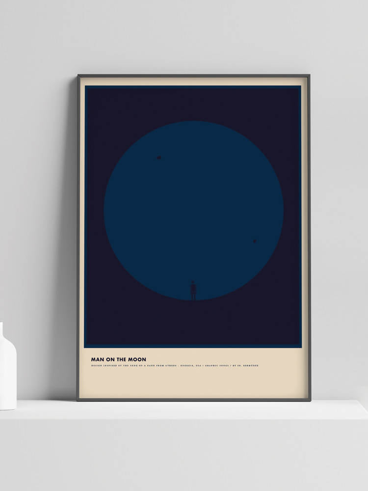Póster 'Man On The Moon' de R.E.M. - Graphic Songs de Sr. Bermudez