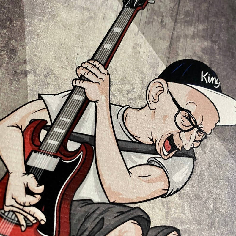 Ilustración de Greg Hetson (Bad Religion) - The Evolution of Punk por Robbie Ramone