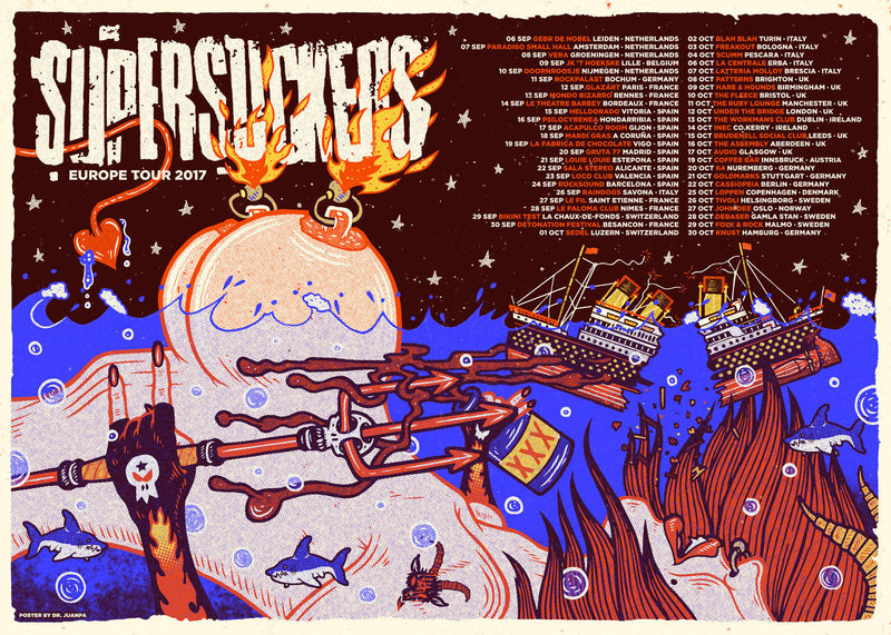 Póster de Supersuckers - Gira Europea 2017