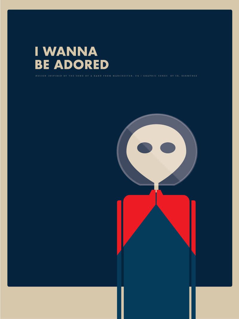 Póster 'I wanna be adored' de The Stone Roses - Graphic Songs de Sr. Bermudez