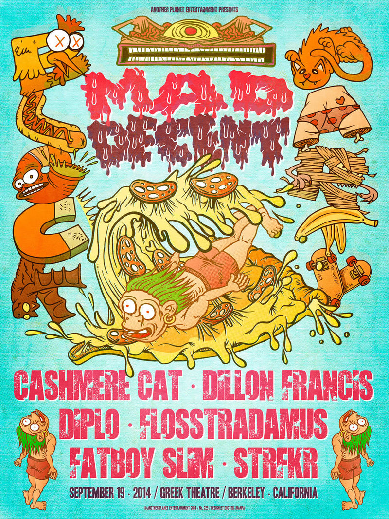Póster de Mad Decent Block Party 2014