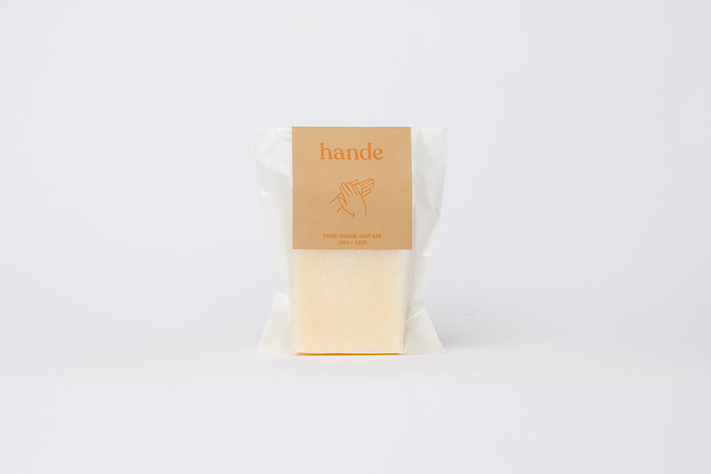 Fresh Orange Natural Soap Bar - Hande