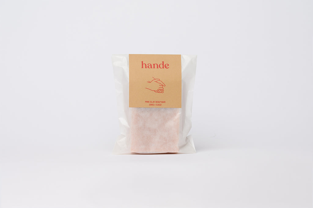 Pink Clay Natural Soap Bar - Hande