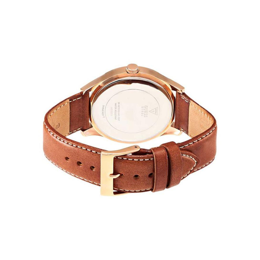 Guess W0792G2 Men's Analogue Quartz Watch with Leather Strap