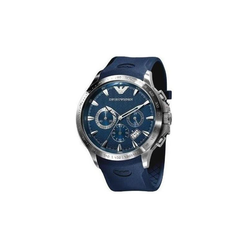 Emporio Armani AR0649 Sport Blue Rubber Strap Chronograph Men's Watch