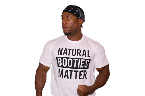 3c9f4661f910b T-Shirt White  Natural Booties Matter (White Shirt with Black Letters)