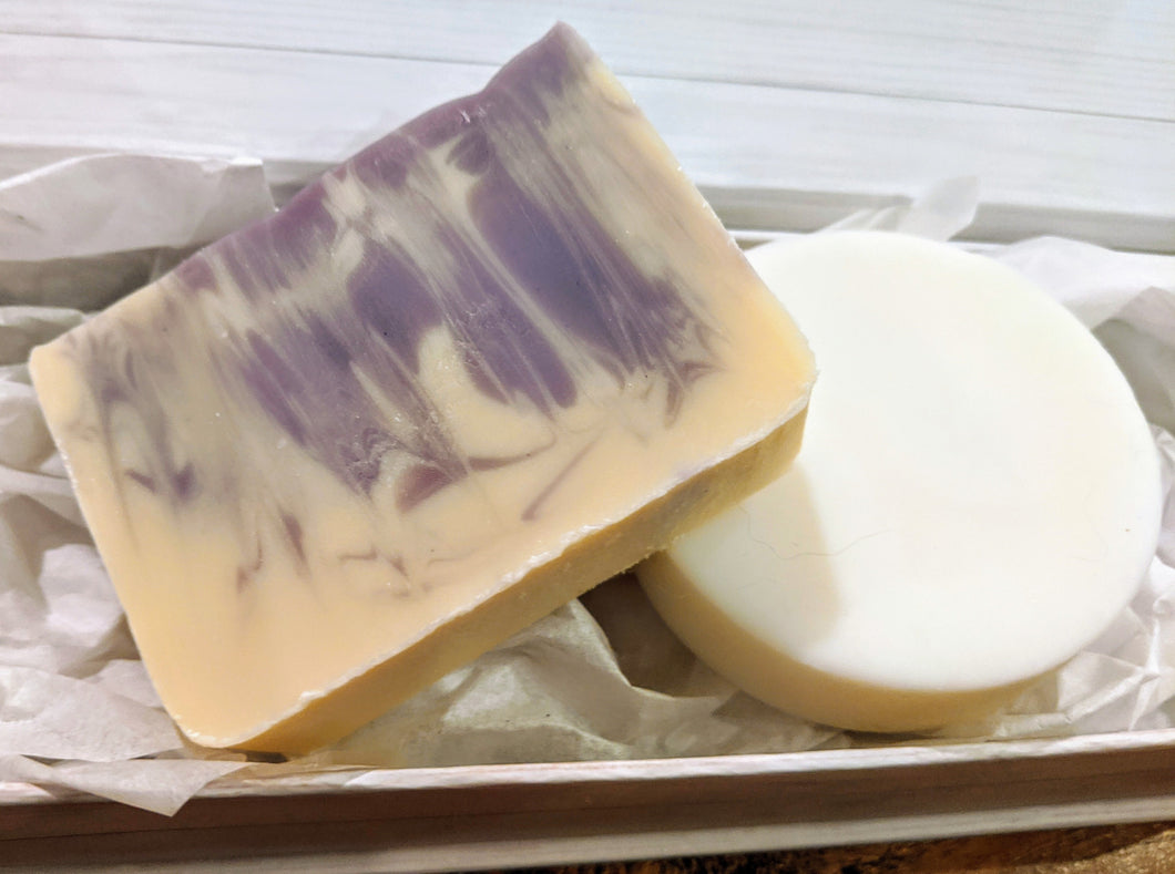 Lavender Lemongrass Soap and Solid Lotion Bar