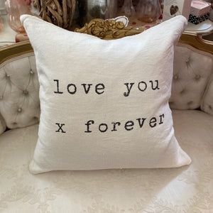 Love You x Forever Pillow