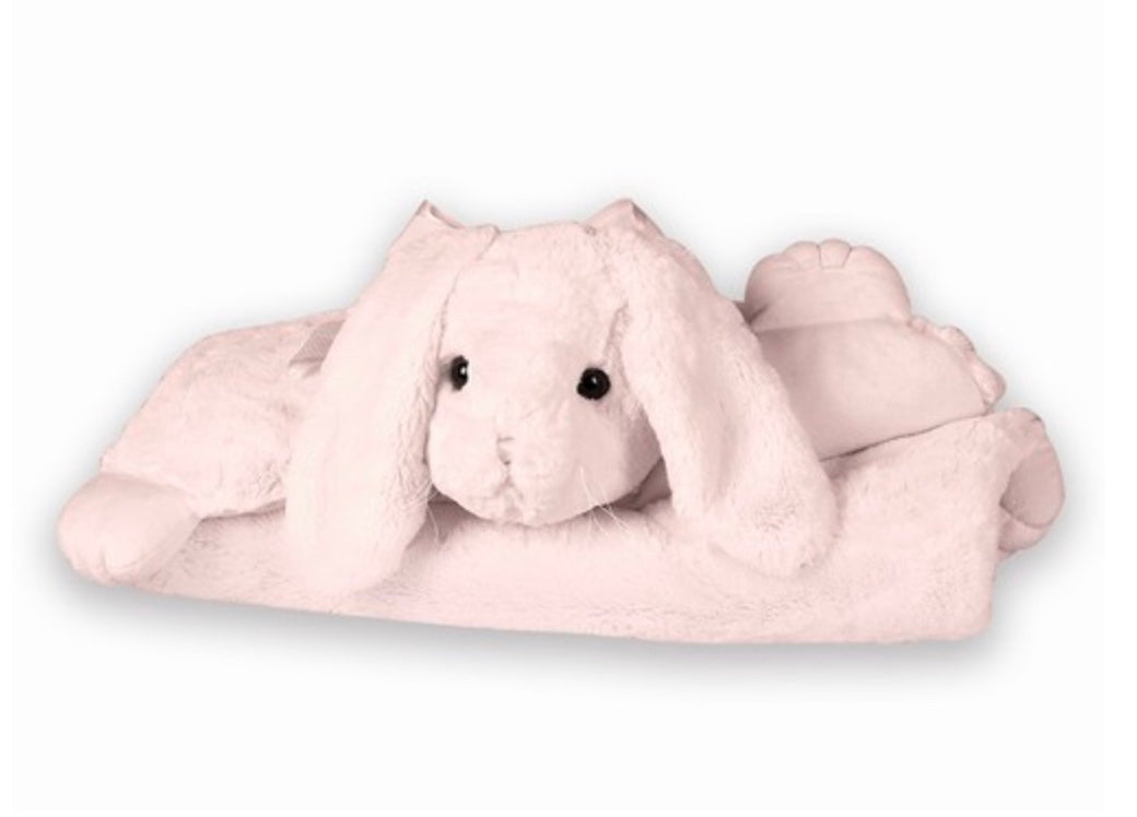 Pink Bunny Belly Blanket