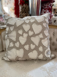 Heart Covered Pillow