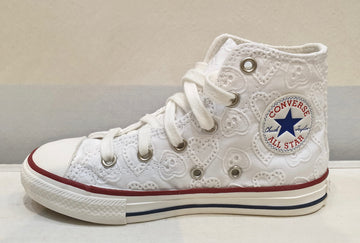 CONVERSE ALL STAR bianca in sangallo