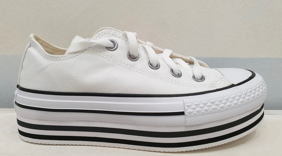 CONVERSE ALL STAR plateau bianche