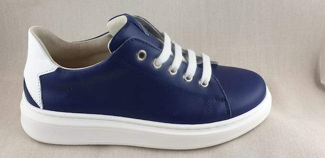 SHOES 76 sneaker in pelle lacci zip