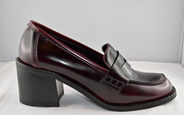 BOTTEGA LOTTI mocassino bordeaux tacco 5 cm.