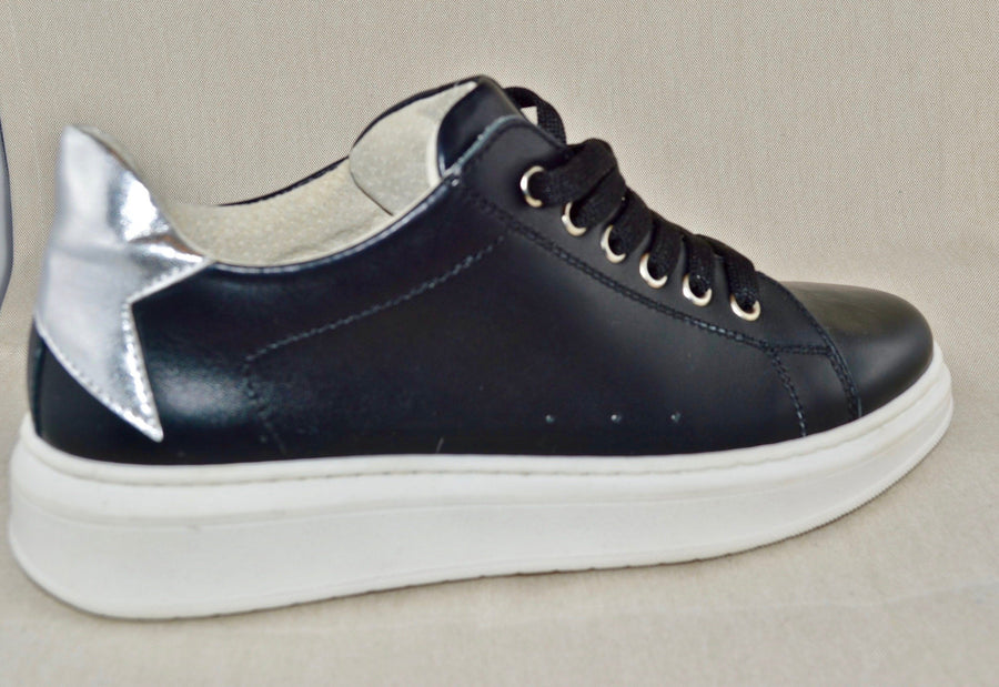 SHOES 76 sneaker pelle suola alta