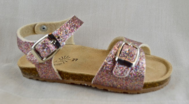 SHOES 76 sandalo fondo birke glitter in 4 colori