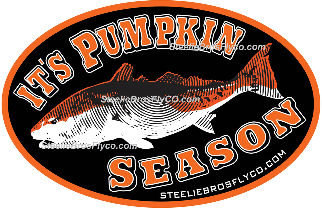 Pumpkin Season Oval Sticker