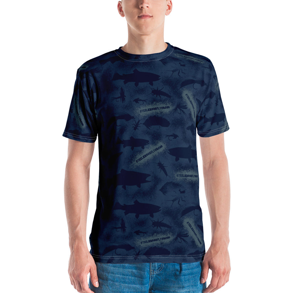 Steelie Bros Navy Trout Camo Tee