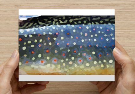 5 Pack of Custom Trout Stationary