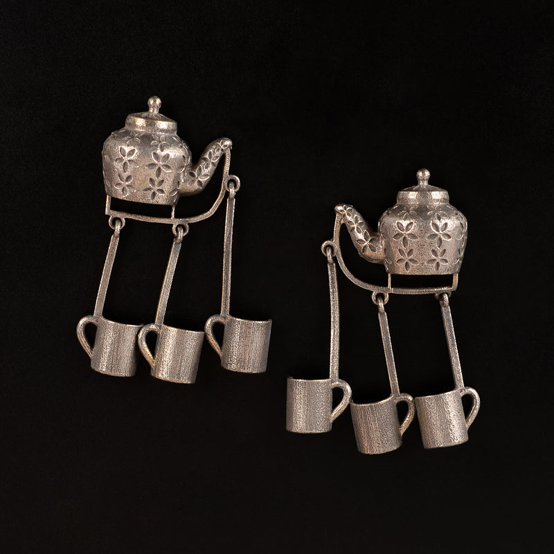 Chaiwali brass Earrings