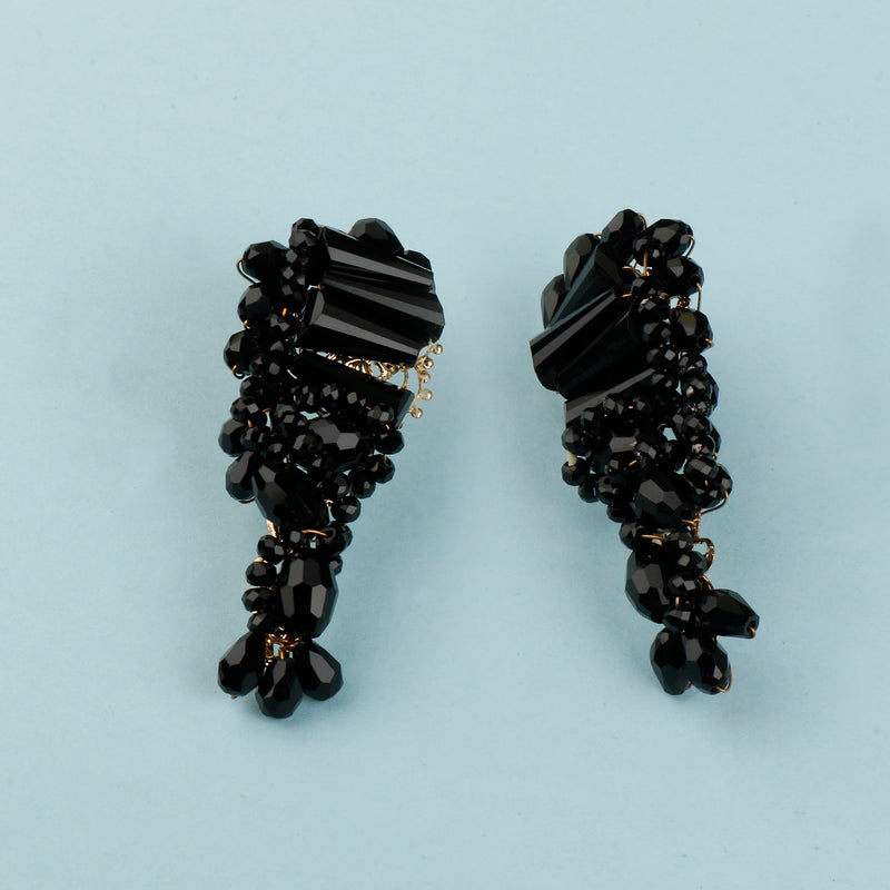 Black beady Earrings