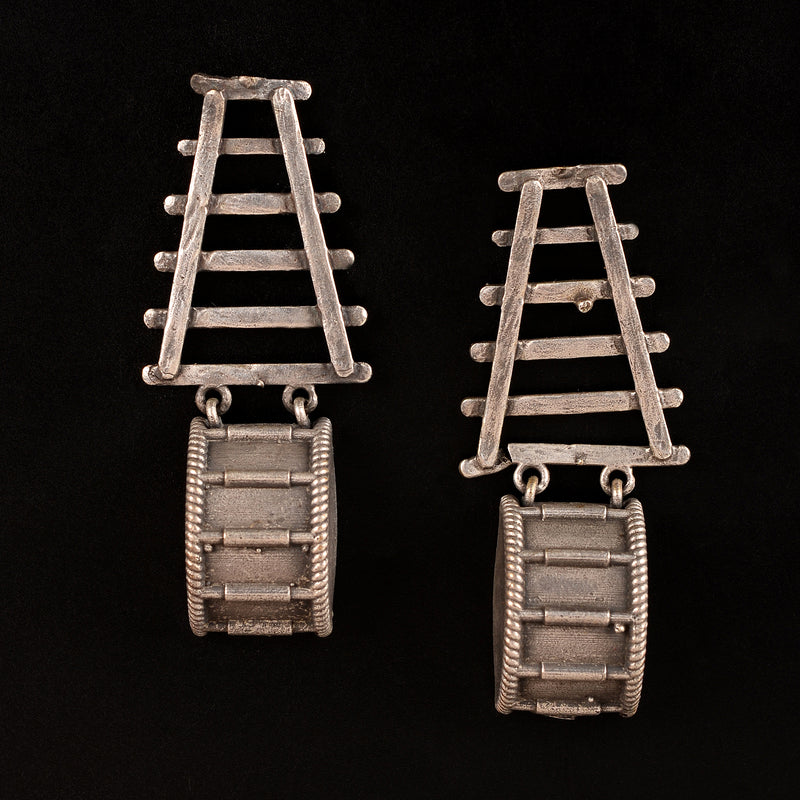 Ladder Shaped oxidised Earrings