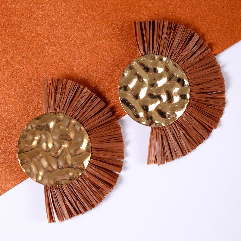 Brown Statement Earrings