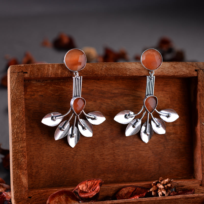 Orangy Designer Earrings