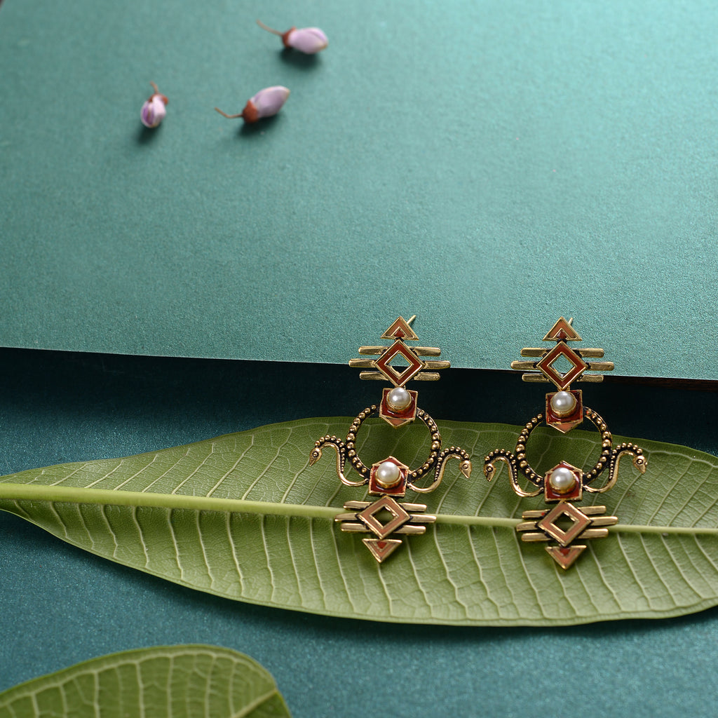 Handmade brass traditional  Earrings