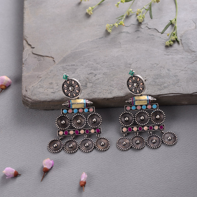 Wheel structured  Earrings