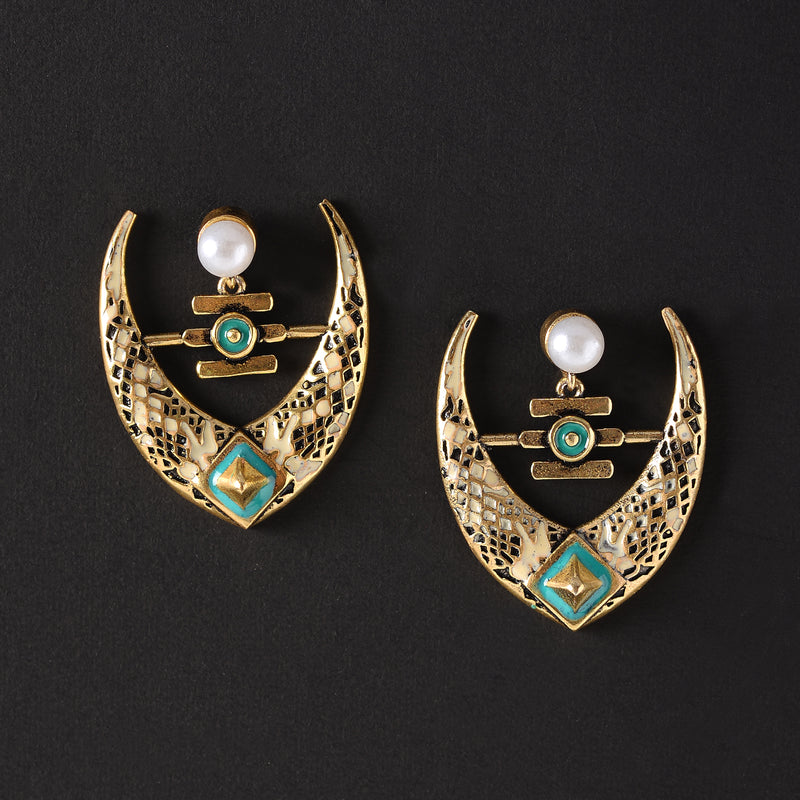 Golden Designer Earrings