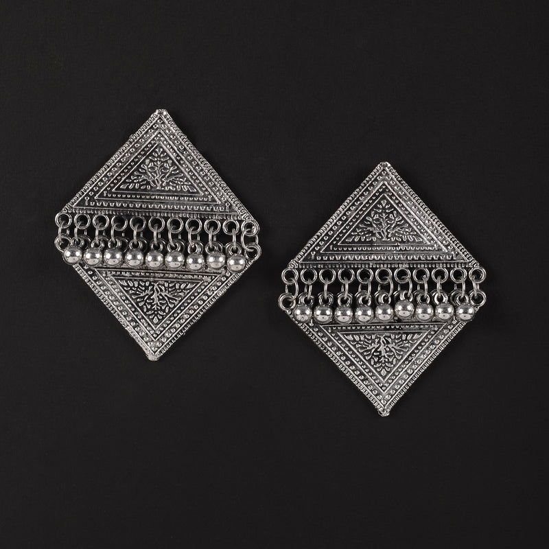 Lozenge Oxidised Earrings