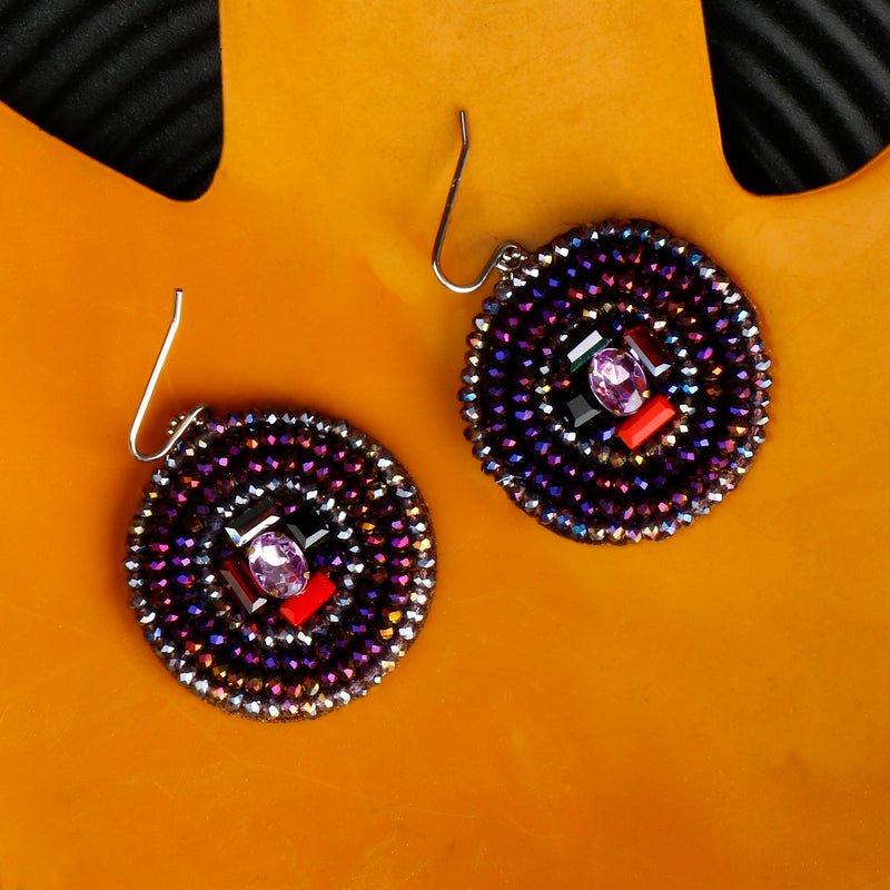 MULTICOLOUR ROUNDED BEADS EARRINGS