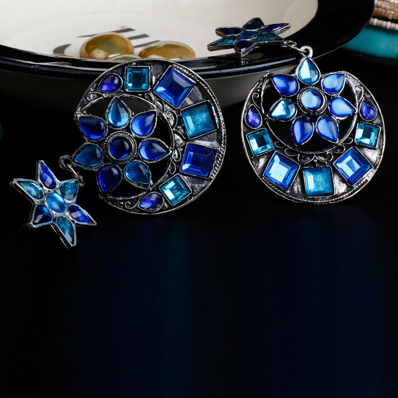 Half Moon Blue  Jhumki