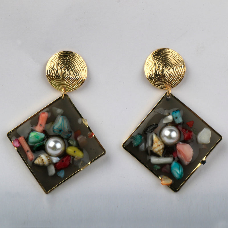 Lozenge Earrings
