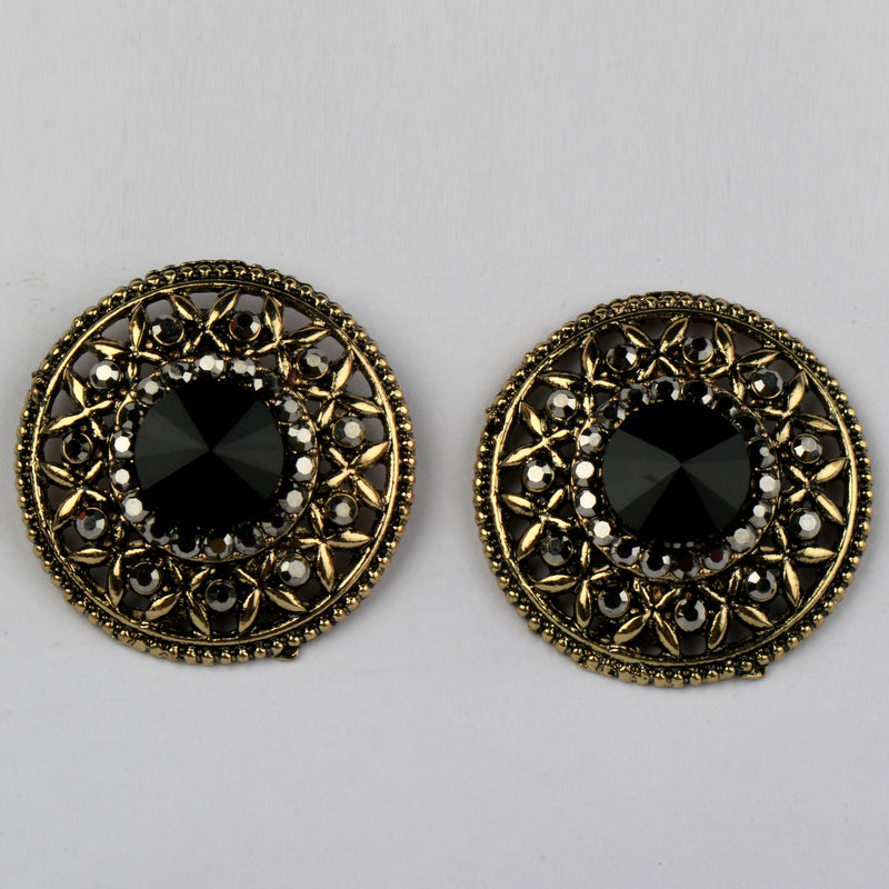 Black Crysto Studs
