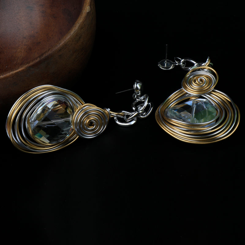 Crysto Oxidised Earrings
