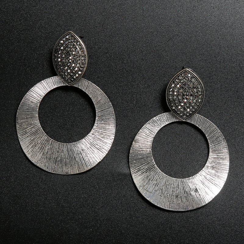 Metallic jacket Earring